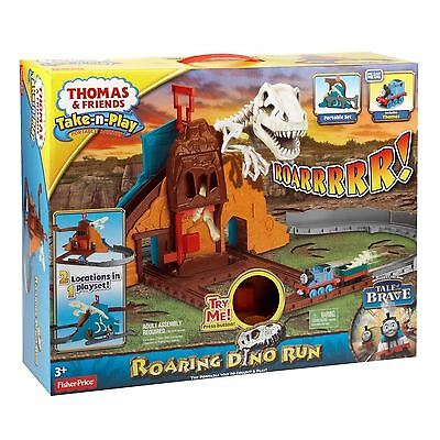 New Thomas & Friends Take 'n' Play Roarin Dino Run Toy Playset Age 3+