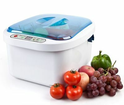12.8L Ultrasonic Cleaner Vegetable Fruit Sterilizer Jewelry Denture Washer NEW