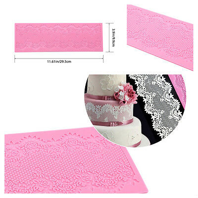 DIY Tools! Silicone Lace Mat Cake Decorating Mould Fondant Chocolate Bakeware