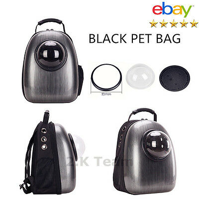 Black Astronaut Pet Cat Dog Carrier Travel Bag Space Capsule Backpack Breathable