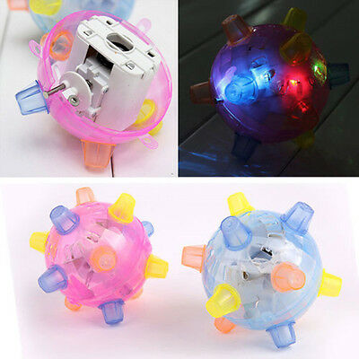 LED Jumping Joggle Bopper Flashing Light Music Vibrating Jump Ball Toy New