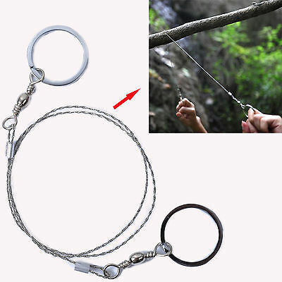70cm Mini Wire Rope Coping Fret hand chain pocket Saw f outdoor Survival Rescue