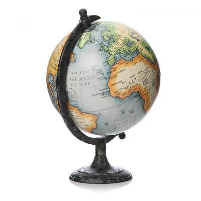 20cm World Globe Rotating Planet Swivel Earth Map Atlas Geography Vintage Gift