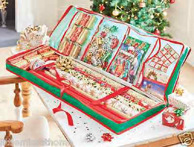 GIFT WRAP & DECORATION ORGANIzER * CHRISTMAS WRAPPING PAPER STORAGE BAG CARRIER