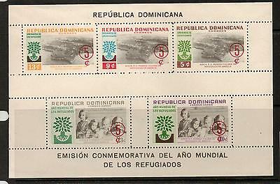 Dominican Repubic Sgms810 1960 World Refugee Year Mnh