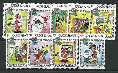 Caicos Is. Sg30/8 1983 Christmas  Mnh