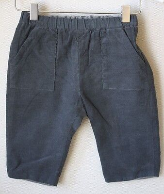 Bonpoint Baby Dandy Grey Corduroy Trousers 6 Months
