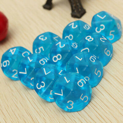 RED D10 TEN Sided Gem Dice Die for RPG Dungeons & Dragons