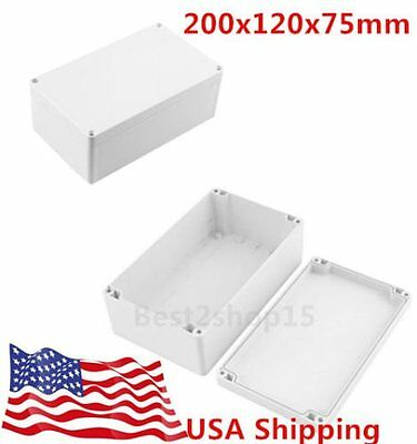 Waterproof Electronic Junction Project Box Enclosure Case 200x120x75mm L8