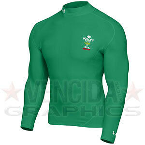 UNDER ARMOUR wales rugby coldgear mock kids [green]