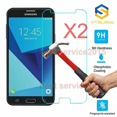 2Pcs 9H+ Premium Tempered Glass Film Screen Protector For Samsung Galaxy J7 DUO