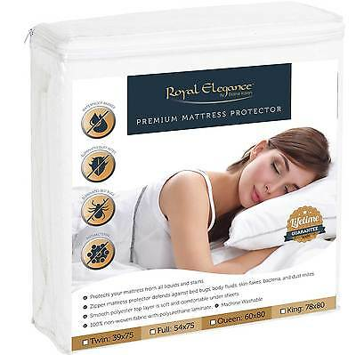 Bed Bug Dust Mite Waterproof Hypoallergenic Ultra Soft Mattress Covers