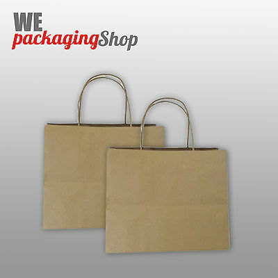 50 SPORTE - BORSE IN CARTA 29+20x22 CM SACCHETTI TAKE AWAY BUSTE DELIVERY