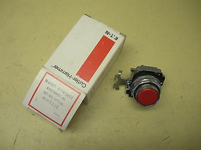 Cutler Hammer Maint. Contact Attachment w/ Red Ind. Button 10250TA18