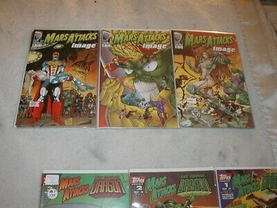 Mars Attacks Image U-PICK 1 COMIC #2,3,4 :Savage Dragon 1-3 Topps Singles VF-VF+
