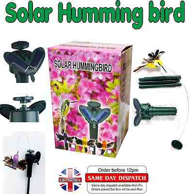 Solar Garden Bird Toy Rotating Hummingbird Steel Wire Teaser Pet Toy