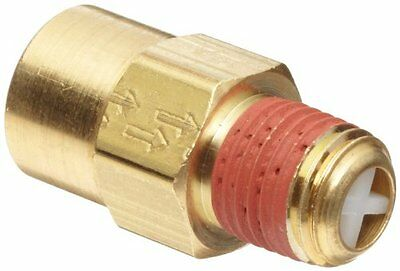 "Control Devices Brass Ball Check Valve, 1/4"" NPT Female x NPT Male New"