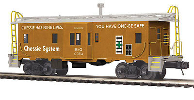 MTH Electric Trains Bay Window Caboose - 3-Rail - Ready to Run - Premier(R) MTH