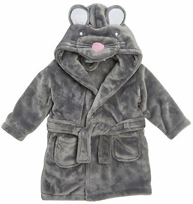 Baby Cute Dressing Gown Mouse Face Detail 6-12 12-18 18-24m Special Offer