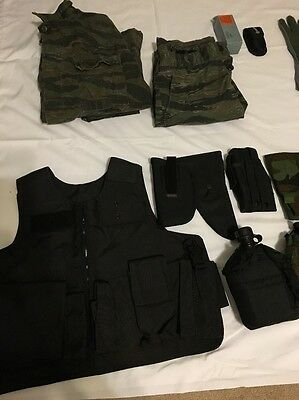 HUGE Lot Of Various Military Gear Woodland Vest Pouches Eagle IndustriesNRA Bag