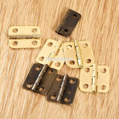 Decorative Hinges Wooden Jewellery Box Chest Dolls House Mini Hinge With Screws