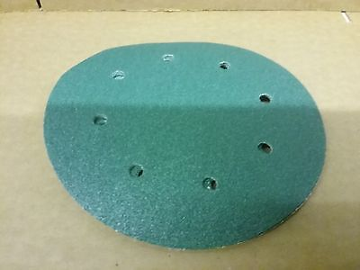 "P60 velcro abrasive discs   203mm 8 hole    Pack (5)     8"" Sanding Pads 200mm"
