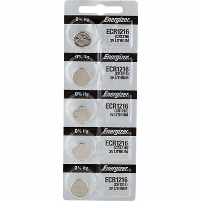 5 x Energizer CR1216 Batteries, Lithium battery 1216