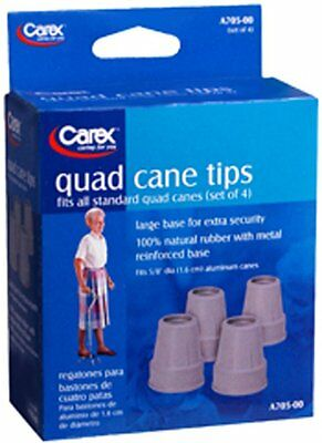 Carex Quad Cane Tips set of 4 Replacements 5/8 inch A705-11