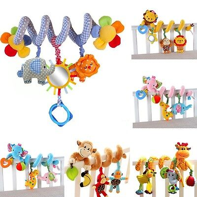 Newborn Baby Stroller Toys Lovely Elephant Lion Model Baby Bed Hanging Toys