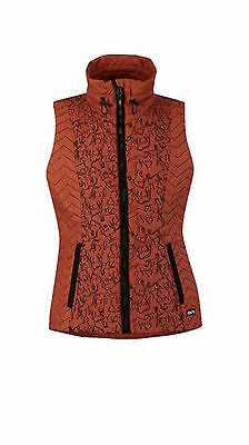 Kerrits Horseplay Quilted Equestrian Vest-Chestnut-2X