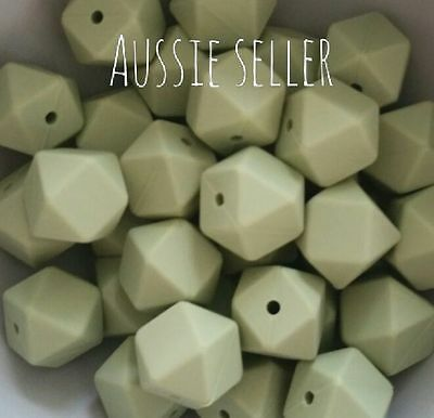 35 x Silicone Beads Bulk Pack AUTUMN 17mm Hexagon Wholesale 19mm 20mm Polygon