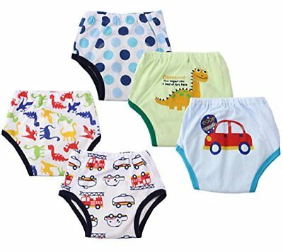 Dimore Baby Toddler 5 Pack Cotton Waterproof Training Pants (L, Boy) New