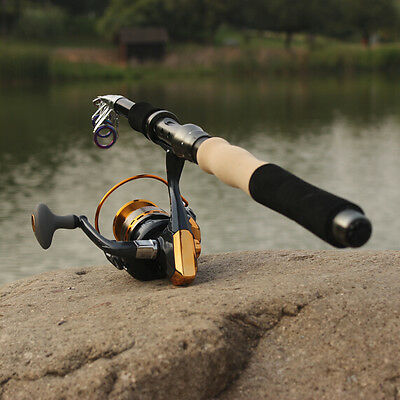Fishing Tackle Combos Saltwater Tool Travel Telescopic Fishing Rods and Reels