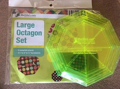 """Large Octagon Templates Set of 6 templates 5.5"""" to 8"""" in 1/2"""" increments"""