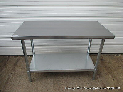 """New Stainless Steel Work Prep Table 48"""" x 24"""" , NSF"""