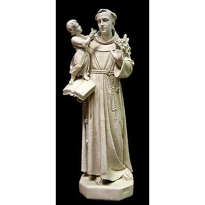 """+ Fiberglass Statue of St. Anthony w/Child + 53"""" tall + Shipping is available"""