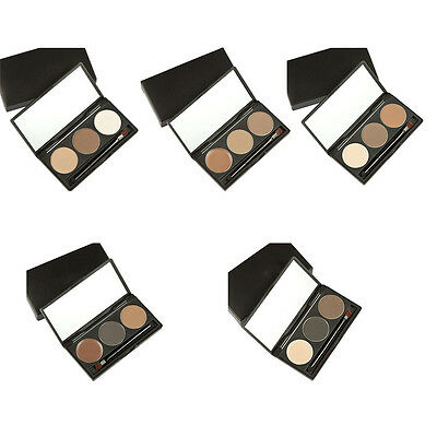 3 Color New Makeup Eyebrow Powder Palette Eye Brow Shading Kit with Brush Mirror