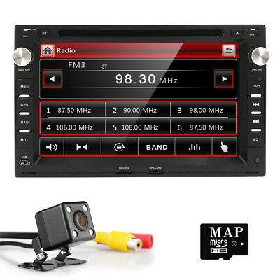 "7"" UI 2 DIN Car Radio DVD Player GPS Stereo for VW B5 MK4 MK5 Golf Passat Jetta"