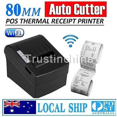 Wireless WIFI POS Thermal Receipt Printer 80mm Auto Cutter/Ethernet/Serial kiosk