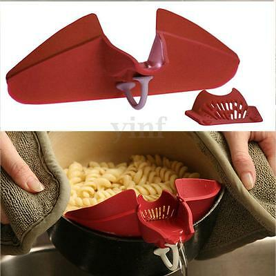 1PCS Hot Silicone Soup Funnel Kitchen Gadget Tools Water Deflector Cooking Tool