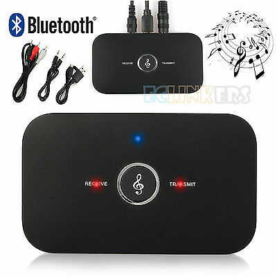 2 in1 Wireless Bluetooth Music Transmitter Audio Receiver Adapter 3.5mm RCA AUX