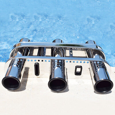 Fishing Outrigger 3 Tube Rod Rack  Rod Holder Tackle Rack Stainless Steel