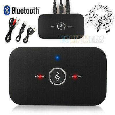 2 in 1 Wireless Bluetooth Music Audio Transmitter Receiver Adapter 3.5mm RCA AUX