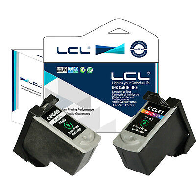 2PK PG40 CL41 Ink Cartridge for Canon Pixma iP1200 Pixma iP1300