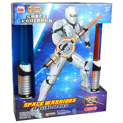 Space Warriors Galactic Double LightSaber Hand Held Toy Accessory Fancy Dress