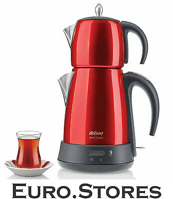 Arzum AR3006 Çayci Classic Tea Maker Red 1650W Keep Warm Function Genuine NEW