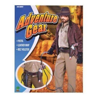 FANCY DRESS Indiana Jones Style Adventurer Costume Kit Whip, Pistol & Holder