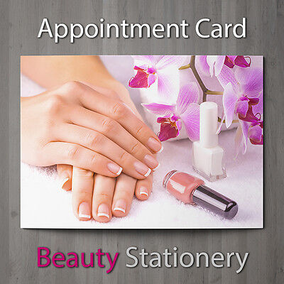Appointment Card Beauty Salon Nail Pedicure Manicure Spa Therapist A7