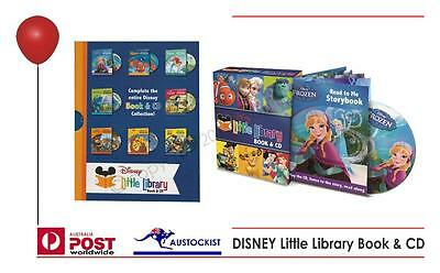 Disney Little Library Book & CD. 8 Classic Titles.Frozen Hard Cover Set BNIB