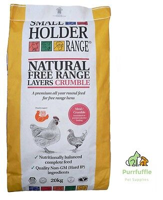 20Kg Allen & Page Small Holder Natural Free Range Layers Crumble Chicken Poultry